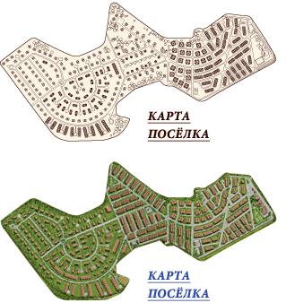 Карта поселка